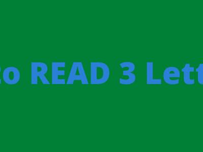 Teach children how to read 3 letter CVC words