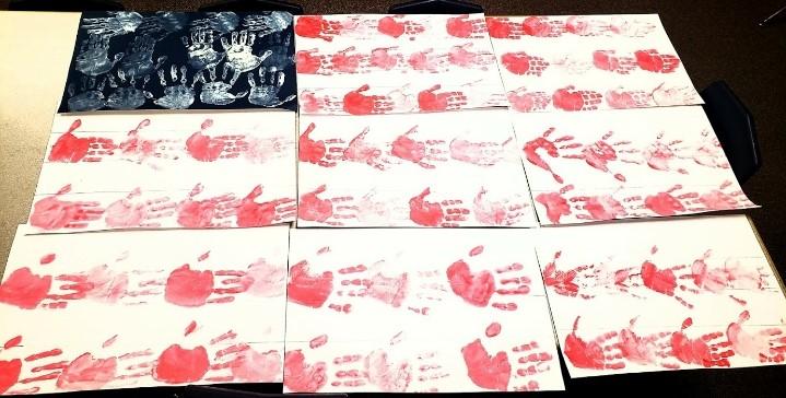 Handprint USA Flag Preschool