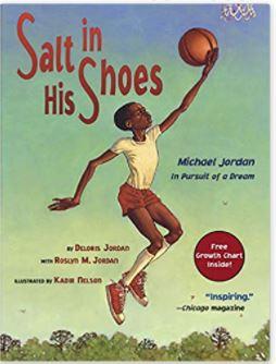 5. Salt in His Shoes by Daloris & Roslyn Jordan illustrated by Kadir Nelson