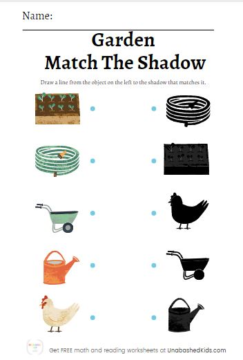 FREE Shadow Matching Worksheets
