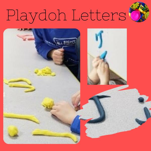 Playdoh letter J