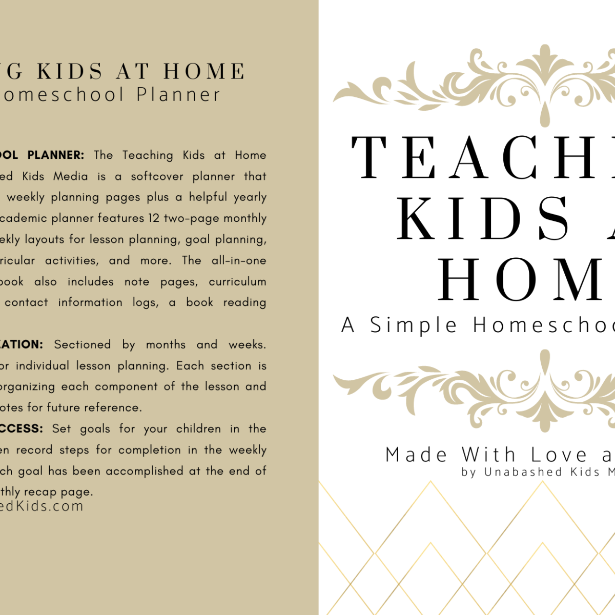 Teaching Kids at Home - A Simple Homeschool Planner