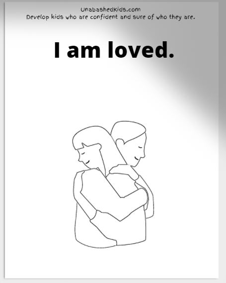i am loved. affirmation coloring page