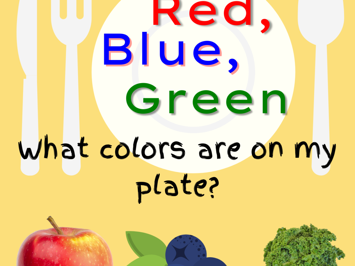 Red, Blue, Green! What colors are on my plate? Children's picture book about colors.